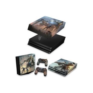 Capa Anti Poeira e Skin para PS4 Pro - Titanfall 2 #B
