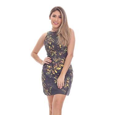 Imagem de Vestido Clara Arruda Detalhe Cava Estampado 50292 - P - Dourado Escuro