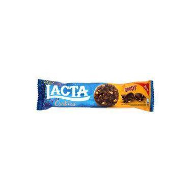 Cookies Lacta Shot Chocolate Com Gotas De Chocolate E Amendoim Pacote 80 G