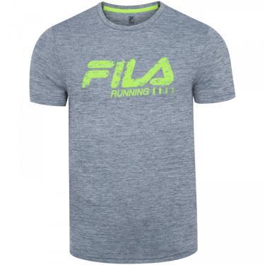 Camiseta Fila Run Bars Melange - Masculina Fila Masculino