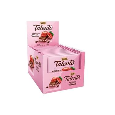 Chocolate Garoto Talento Morango 12X90g