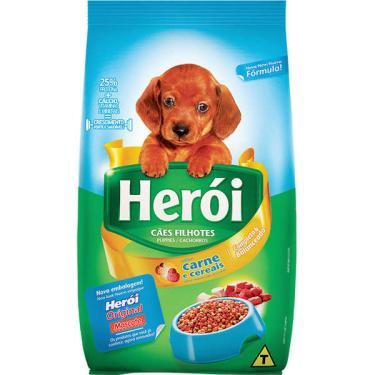 Ração Guabi Herói Carne e Cereais para Cães Filhotes - 15 Kg