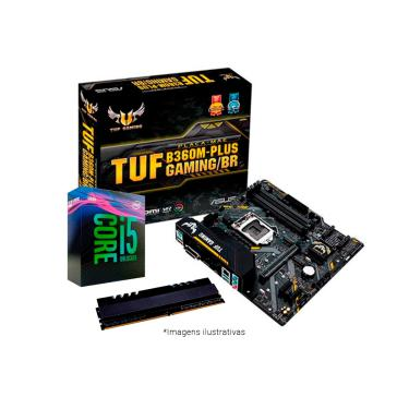 Kit Upgrade Intel® Core™ i5 9400F + TUF B360M-PLUS GAMING/BR + Memória 8GB DDR4