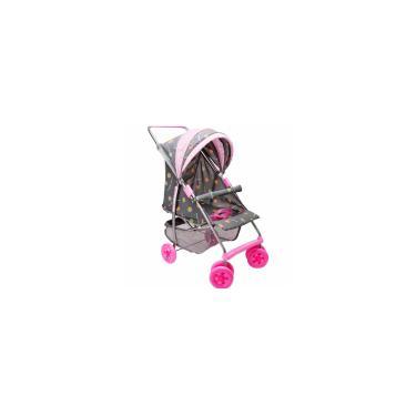 Imagem de Carrinho de Bebê Reborn Milano na cor Cinza e Rosa