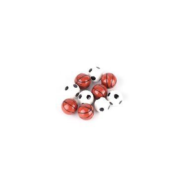 Imagem de 10pcs 1:12 Dollhouse Ball Model Modelo de futebol basquete Brinquedos de decoração