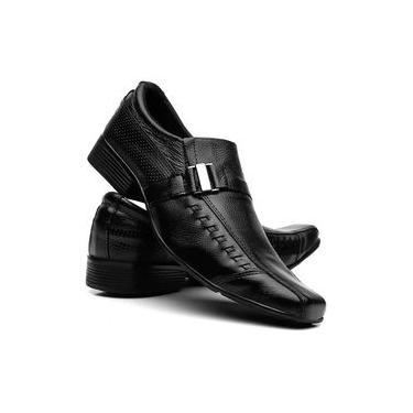 Sapato Social Masculino Couro Bico Fino Conforto Promoção Oferta
