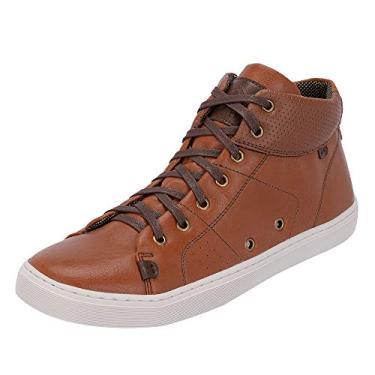 Sapato Sapatênis Casual Masculino Cano Médio Selten Caramelo 40, Caramelo