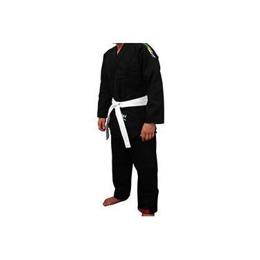 Kimono p/ Jiu-Jitsu Trançado Advanced Preto - Torah