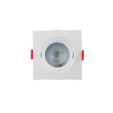 Spot LED embutir Quadrado Móvel 5W 4000K Opus LED