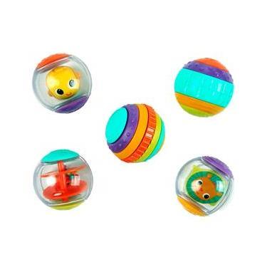 Imagem de Chocalho Bright Starts Brasbaby Shake e Spin Activity Balls 9079