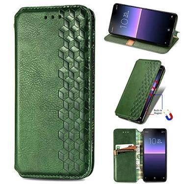 XYX Capa carteira para LG Stylo 7 5G, [Diamante em relevo][Fecho magnético] Capa para celular de couro PU premium compatível com LG Stylo 7 5G, verde