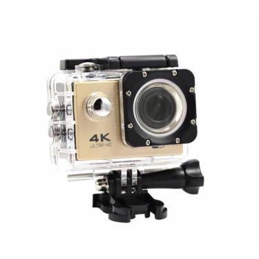 Imagem de Câmera Action Sports 4K Wifi Hd Prova Dágua Dourada