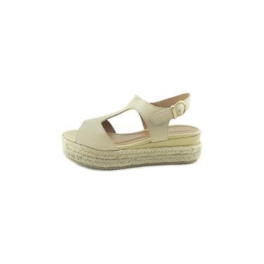 Sandália Scarpan Calçados Finos em Couro Salto Plataforma média - Off Whithe  feminino