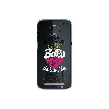 Capa para Moto Z3 Play - O nosso santo bateu