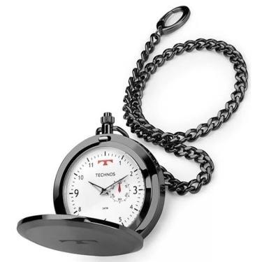 200e0a7d045 Relógio de Bolso Technos Aço Inox Quartzo 1L45BC 4B