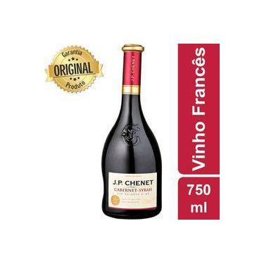 b55977b3e Vinho Francês Cabernet Syrah Tinto Garrafa 750ml - J.p Chenet