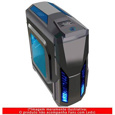 Gabinete Gamer, Pixxo, Dispositivos de Conexão em Rede, Azul/Preto