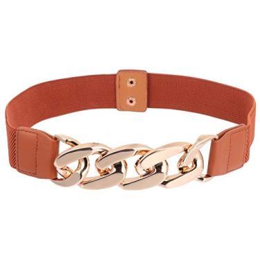 SOIMISS Mulheres Cinto Elástico Na Cintura Cinto Vestido Casaco Roupas Estiramento Cintura Banda Fivela de Cinto Cáqui