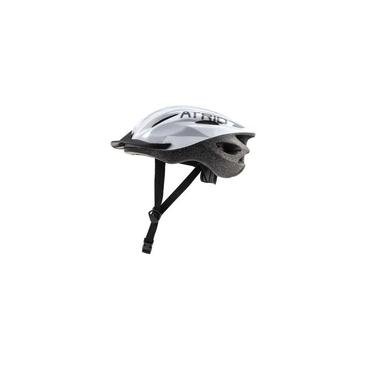 Capacete Ciclista Bicicleta Motain Bike Ciclismo Viseira Removível Branco Cinza Preto Átrio