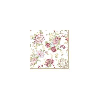 Guardanapo para Decoupage Floral Magenta 33X33CM