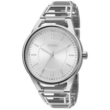d07fda17266 Relógio Feminino Euro Analógico Prata- Eu2035yep 3k