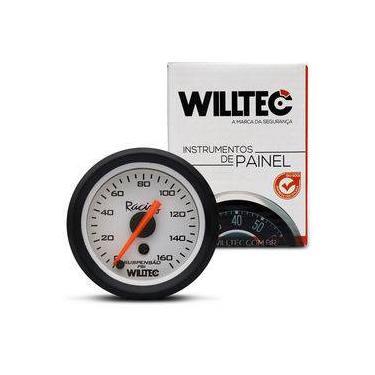 Imagem de Manômetro Analógico Para Suspensão A Ar 160psi 52mm Universal Branco Willtec