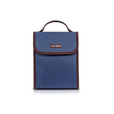 Bolsa Térmica Lancheira De Mão Azul Essencial Jacki Design