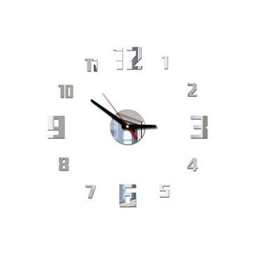Relógio de parede 3D Heaven2017 Grande Espelho de Acrílico Digital Adesivo DIY Relógio
