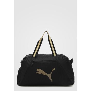 Bolsa Puma At Ess Grip Bag Preto/Dourado  feminino