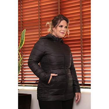 Casaco Plus Size De Nylon Com Capuz Cpsi80562 Off white GG