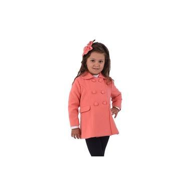 Casaco Infantil Menina Lã Polivelour Transpassado