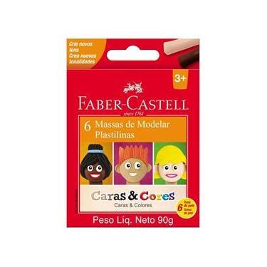Imagem de Massa Modelar Cera Faber Castell Caras e Cores 6 Tons Pele