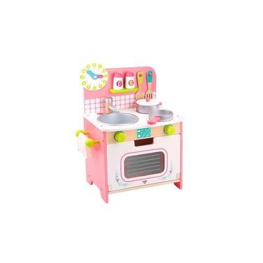 Imagem de Cozinha Infantil de Madeira Branca e Rosa - Tooky Toy