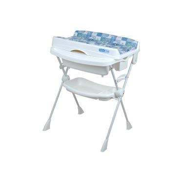 Banheira Splash Com Suporte E Trocador Peixinho Azul - Burigotto