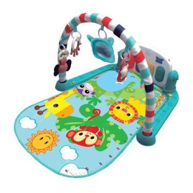 Imagem de Tapete De Atividades Para Bebê Musical Safari Azul Kitstar