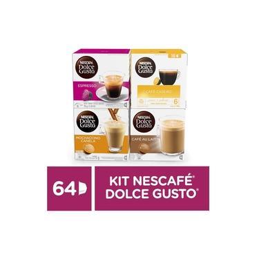 Kit de Cafés e Lattes Nescafé Dolce Gusto - 64 capsulas
