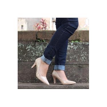 Sapato Scarpin Mooncity Areia Feminino 62701