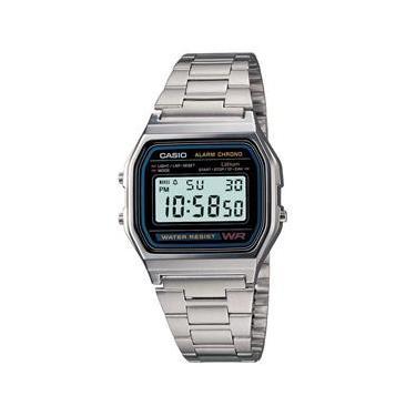 d77496272bd Relógio Unissex Digital Casio A158WA-1DF - Prata