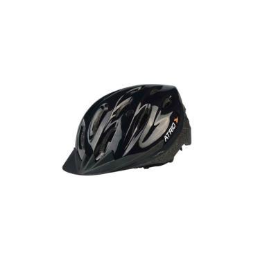 Capacete para Ciclismo MTB Alças Ajustáveis e 19 Entradas de Ar Preto Atrio Tam. G - BI003 Atrio