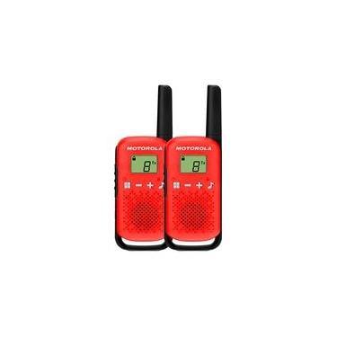 Rádio Comunicador Motorola Talkabout  T110BR, 26 Canais, 25KM, Vermelho - 71669
