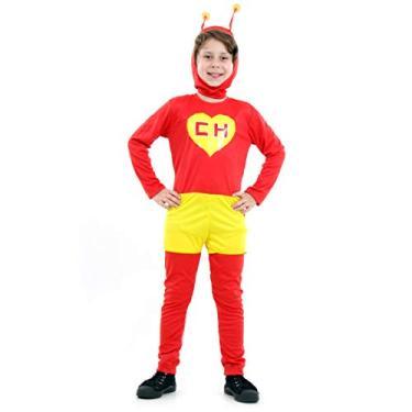 Imagem de Fantasia Chapolin Colorado Infantil 922113-P, Vermelho/Amarelo, Sulamericana Fantasias