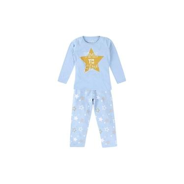 Pijama Longo Blusa Time To Shine + Calça Estampada Menina