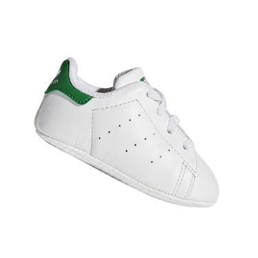 Tênis Adidas Bebê Stan Smith Branco e Verde B24101 Tamanho:16
