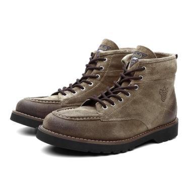 Bota Coturno Masculino Moscou Camurça Cano Medio Black Boots