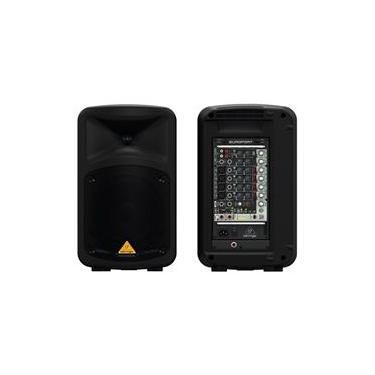 Caixa Ativa 500 Watts E Mesa Acoplada Com 8 Canais Mp3
