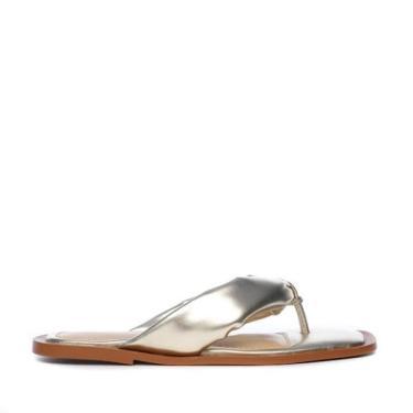 Rasteira Flat Bruna Frida Shoes Napa Dourado - 36