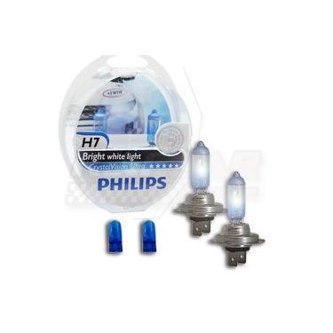 Lâmpada Super Branca Crystal Vision Ultra H7 Philips