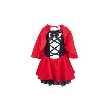 Imagem de Fantasia Chapeuzinho Vermelho Infantil de Luxo Completa Com Capuz