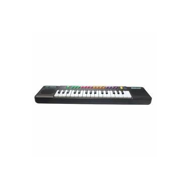 Piano Teclado Musical Infantil Sons Eletrônico 32 Teclas Com Microfone Embutido