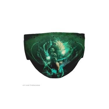 Máscara Dupla Street Fighter Blanka Kit c/ 3